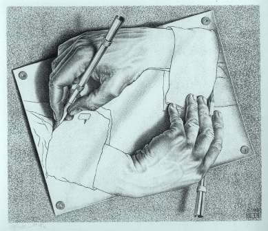 MC Escher Paradox of being a writer